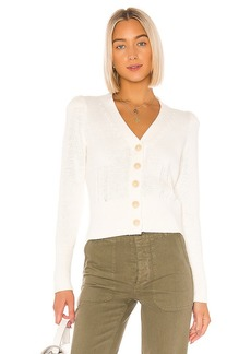White + Warren Puff Shoulder Cardigan