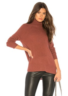 White + Warren Raglan Standneck Sweater