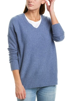 White + Warren Ribbed Cashmere V-Neck
