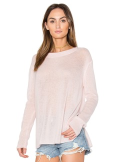 White + Warren Side Slit Pullover