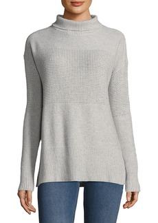 White + Warren Turtleneck Wool-Blend Sweater