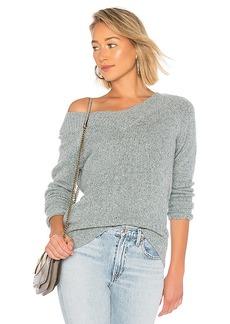 White + Warren Wide Open V Neck Sweater