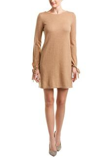 White + Warren Wool & Cashmere-Blend Shift Dress