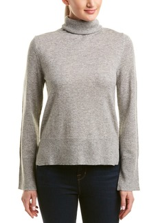 White + Warren Wool & Cashmere-Blend Turtleneck Sweater