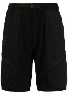 White Mountaineering buckle-fastening knee-length shorts