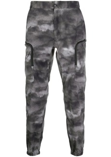 White Mountaineering camouflage-print cargo trousers