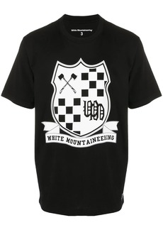 White Mountaineering crest print T-shirt