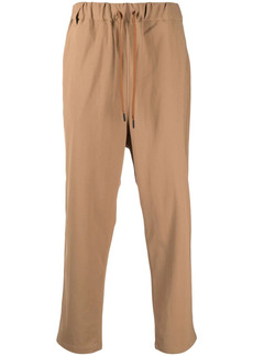 White Mountaineering drawstring straight-leg trousers