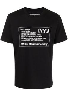 White Mountaineering label-print T-shirt