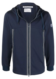 White Mountaineering logo-patch zip-up hoodie