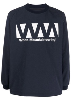 White Mountaineering logo-print long-sleeve T-shirt