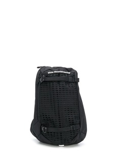 White Mountaineering logo print one-shoulder backpack
