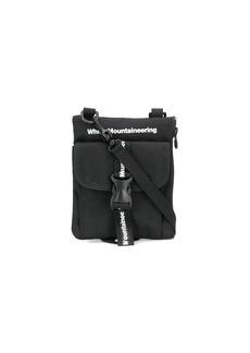 White Mountaineering logo-print shoulder bag