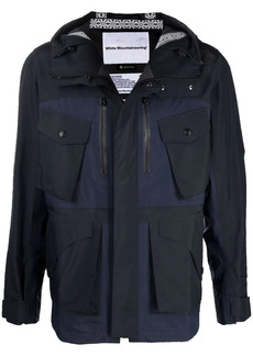 White Mountaineering panelled concealed jacket