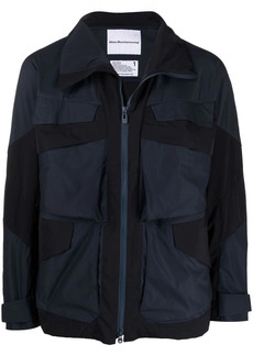 White Mountaineering panelled stand-collar jacket