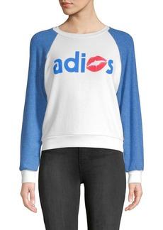 Wildfox Adios Raglan-Sleeve Sweatshirt
