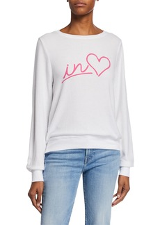 Wildfox Always in Love Baggy Beach Sweater