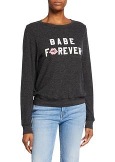 Wildfox Babe Forever Baggy Beach Jumper Sweatshirt