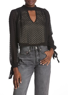 Wildfox Back Tie Long Sleeve Blouse