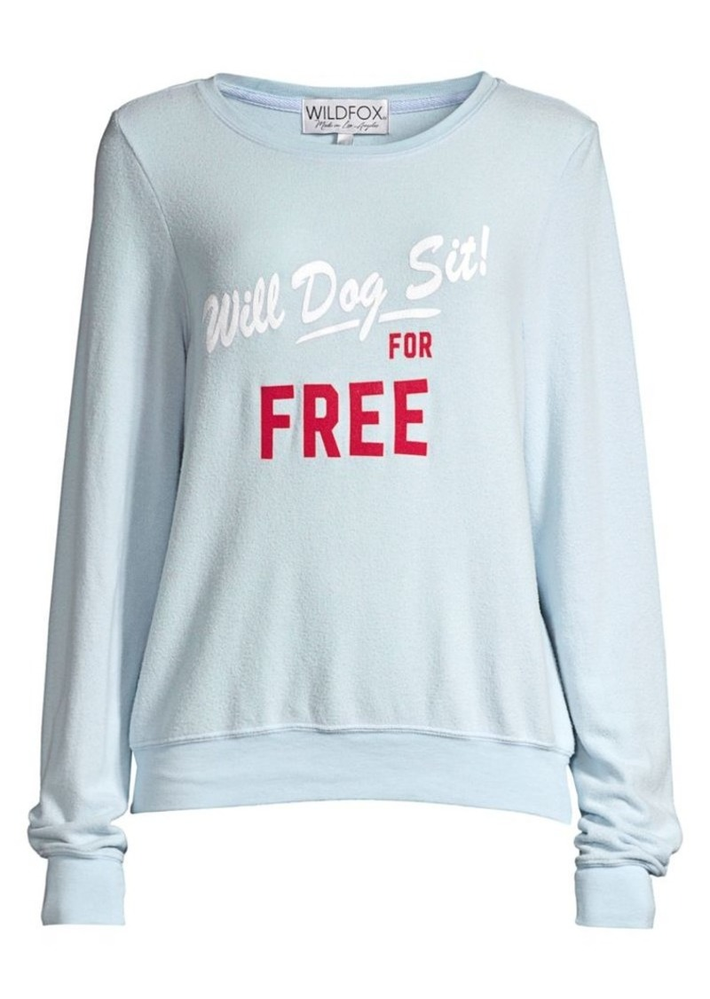 Wildfox Baggy Beach Dog Sit Oversized Sweatshirt