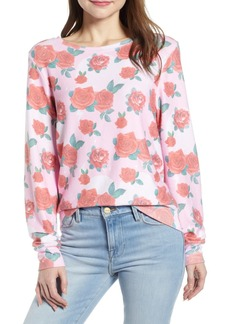 Wildfox Baggy Beach Jumper - Roses Pullover