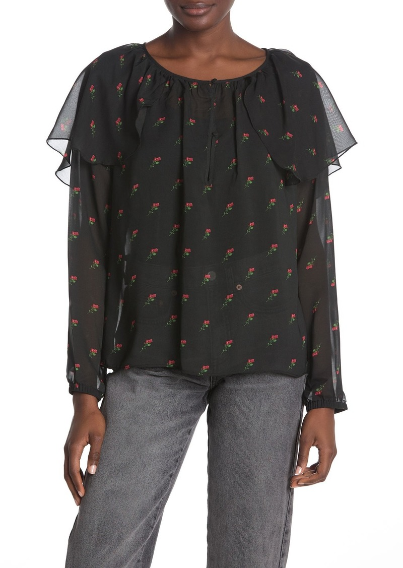 Wildfox Bethany Floral Print Blouse