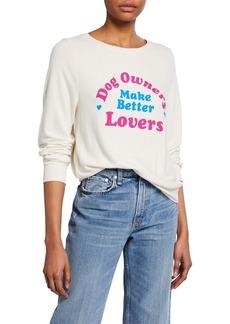 Wildfox Better Lovers Crewneck Pullover Sweatshirt