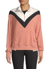 Wildfox Blocked Soto Warm Up-Sweater