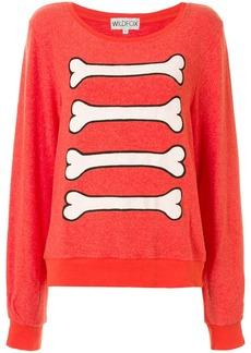 Wildfox bones print sweatshirt