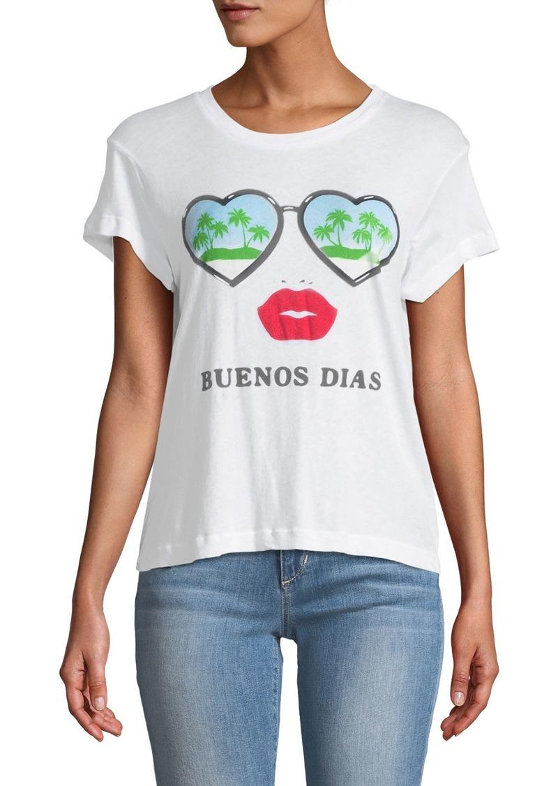 Wildfox Christmas.Wildfox Buenos Dias Graphic Cotton Tee Casual Shirts