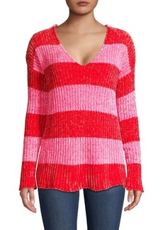 Wildfox Chenille Shiny Striped Sweater