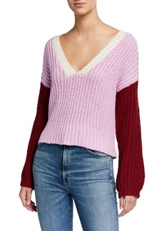 Wildfox Color Me Beverly Colorblock Sweater