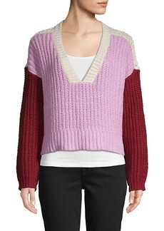 Wildfox Colorblock Cotton Sweater