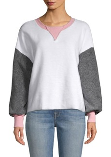 Wildfox Colorblock Long-Sleeve Sweatshirt