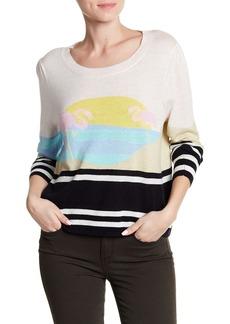 Wildfox Crew Neck Print Sweater