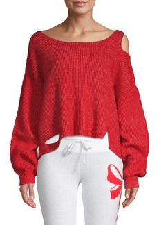 Wildfox Cutout Boatneck Sweater