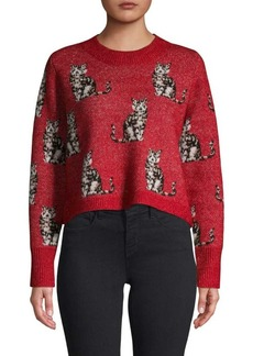Wildfox Dali Cropped Cat Sweater