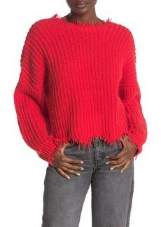 Wildfox Deep V-Back Palmetto Sweater