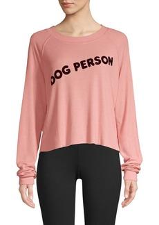 Wildfox Dog Person Monte Crop Sweatshirt