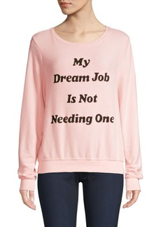 Wildfox Dream Job Graphic Pullover