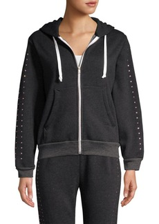 Wildfox Embellished Zip-Up Hoodie