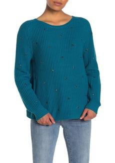 Wildfox Erika Stud Stars Knit Sweater