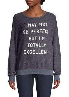 Wildfox Excellent Slogan Sweatshirt