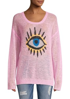 Wildfox Eye See You Genesis Alpaca-Blend Sweater