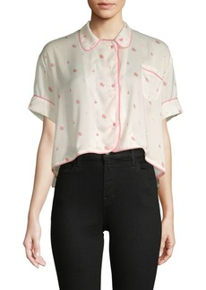 Wildfox Floral Hi-Lo Top