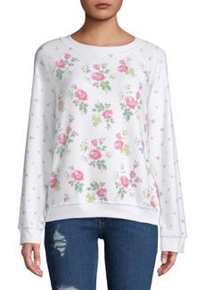 Wildfox Floral-Print Sweatshirt