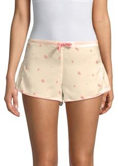 Wildfox Floral Ruffled Shorts