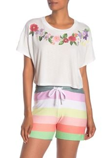 Wildfox Get Leid Valley Cropped T-Shirt