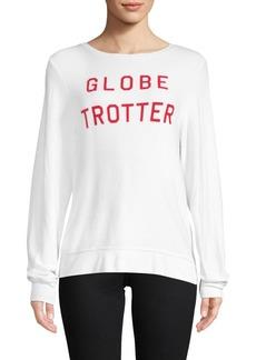 Wildfox Globe Trotter Long-Sleeve Top