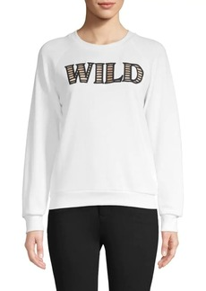 Wildfox Graphic Cutout Cotton-Blend Sweatshirt